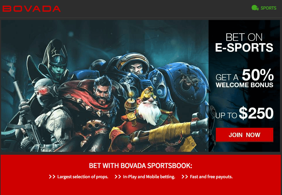 Bet on ESports with Bovada Sports